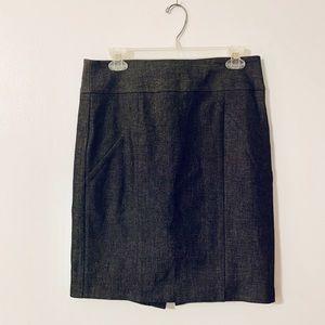 Banana Republic Black/Grey Pencil Stretch Skirt